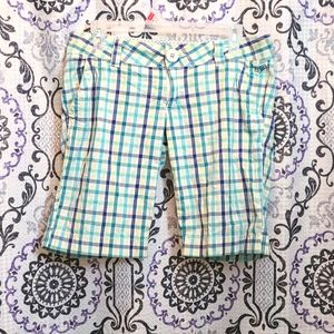 Fox Racing Womens Teal Plaid Shorts in US Size 7